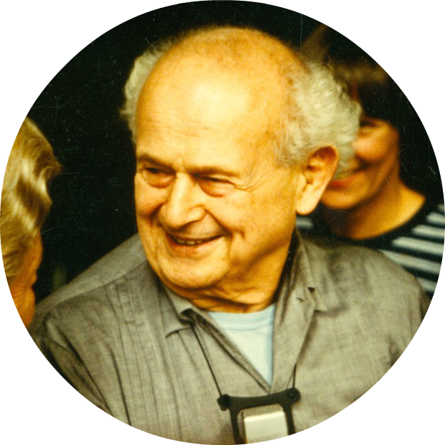 Moshe Feldenkrais in Freiburg, 1981. © International Feldenkrais® Federation Archive