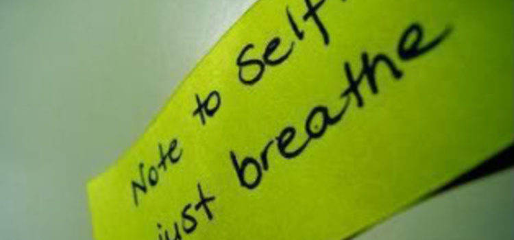 Reminder note to breathe